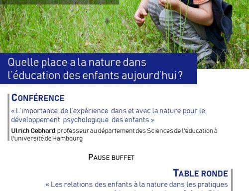 Rencontre débat – Quelle place a la nature dans l'éducation des enfants aujourd'hui – 22 mai
