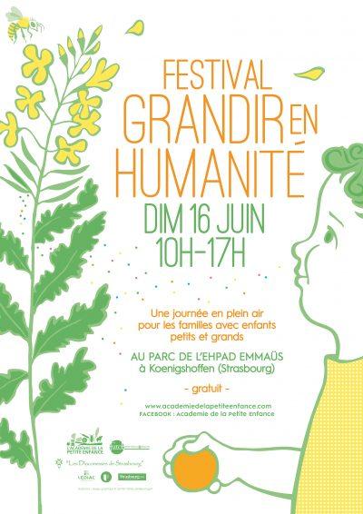 Affiche Festival Grandir en Humanité